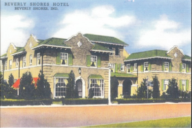 Beverly Shores Hotel Photo of Postcard