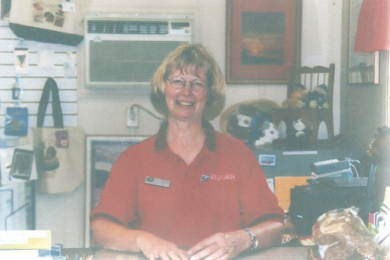 Lynn Przyblinski, postmaster May 2003 through July 2006. Postal service from May 1963 to July 2006.