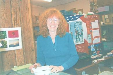Rachel Angotti, postmaster from January 1987 through January 2003. Postal service from September 1967 theough January 2003.