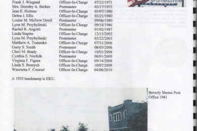 list of appointees/titles post office 1935-2010
