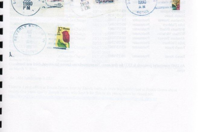 hand stamps used by post office