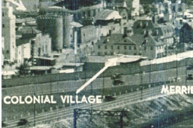 photo of Colonial Village location at World's Fair