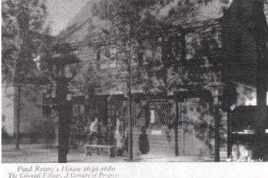 Paul Revere's house 1650-1680. Colonial Village, Chicago World's Fair