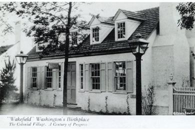 """Wakefield"", Washington's birthplace, Colonial Village, Wrlds Fair"