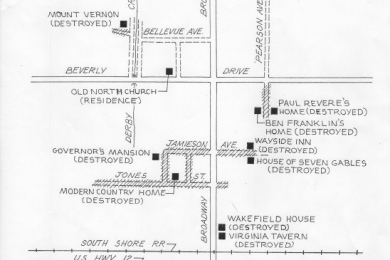 location of 1933 world's fair houses in Beverly Shores