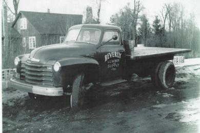 Beverly Lumber supply truck