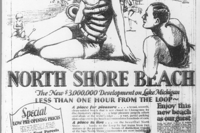 reproduction North Shore Beach poster