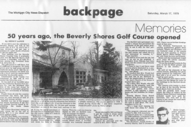 50 years ago, the Beverly Shores golf course opened