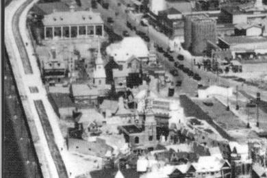 church aerial view