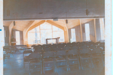 color photo interior of St. Ann of the Dunes church