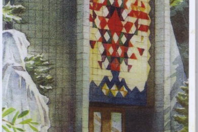 color depiction of front of St. Ann of the Dunes church